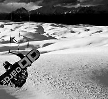 Snowkite, Southern Alps by morealtitude