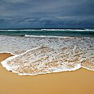 Stormy Skies, Golden Sands and Foaming Waves by Janette Rodgers