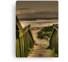 Old Bar beach walkway Canvas Print