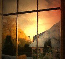 Winter - Jupiter rising - Belgium by Gilberte