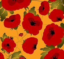 Poppy field forever by Richard Laschon