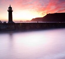 Whitby Harbour by Carl Mickleburgh