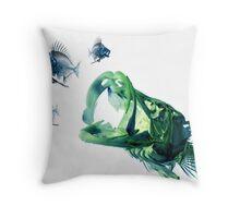 Snook Chasing Pinfish Throw Pillow