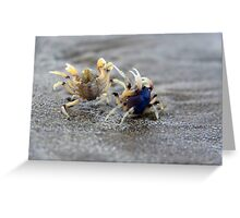 In A Crabby Mood Greeting Card