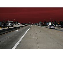 Freeway Red Photographic Print