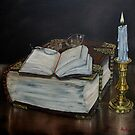 """""""Old Family Bible and Psalm Book"""" - Oil Painting by Avril Brand"""