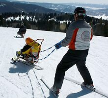 Adaptive Ski Lesson by Andrea Jehn Kennedy