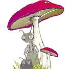 toadstool stooges by Agnew & Roberts