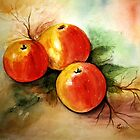 Beautiful apples- Watercolor painting by Esperanza Gallego