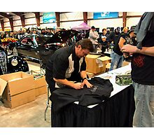 Chip Foose Delights The Crowd Photographic Print