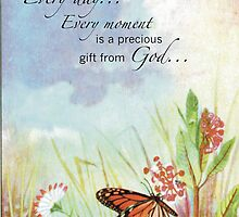 Precious Gift from God, Butterfly, Wildflowers by SandraRose