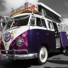 Purple Volkswagen Kombi poptop by Ferenghi