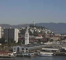 Coit Tower and the Embarcadero ~ San Francisco by fototaker