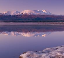 Lake Otamangakau Panoramic 2 by Paul Mercer