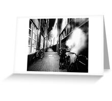 STEAMY DARK ALLEY Greeting Card