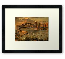 Natures Textures - Moods Of A City - The HDR Experience Framed Print