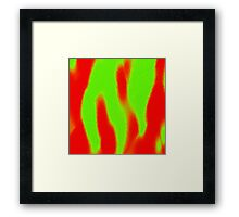 Dancing In The Fire Framed Print