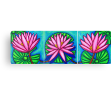 Three Pink Gems  Canvas Print