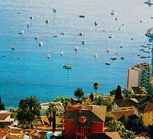 Monaco - a View of the Mediterranean Sea from a Hillside Road by Igor Pozdnyakov