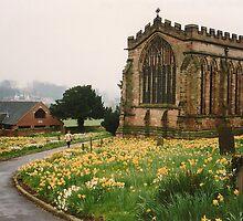Ashbourne Church, Derbyshire, England by Kezzarama