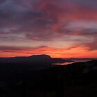 Sunset over Souda Bay by Sheila Laurens