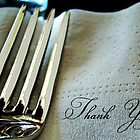 fork and napkin by Lenore Locken