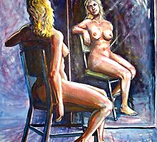 woman front of mirror by Ümit ÖZKANLI