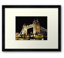 TOWER BRIDGE LONDON / GOLD Framed Print