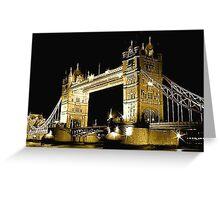 TOWER BRIDGE LONDON / GOLD Greeting Card