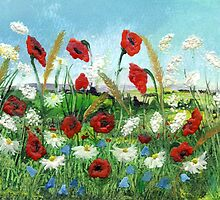 Poppy Field 2 by Carol Rowland
