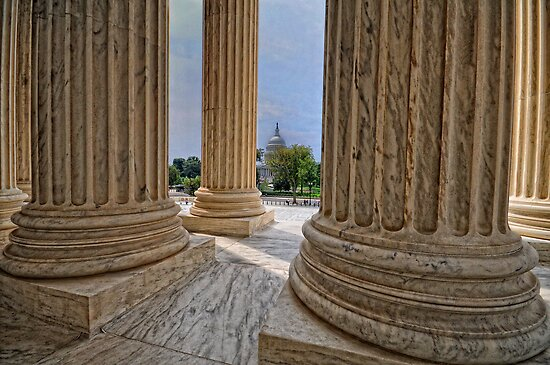 Supreme Court View of the US Capitol by balexander101