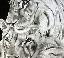 Brothers - Graphite Pencil by Susan van Zyl