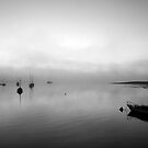 Boats in the mist by Lois Romer