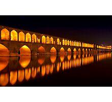 Si-o-Seh Pol (Bridge) - Isfahan - Iran Photographic Print