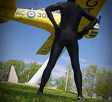 Black Airforce Way Zentai 2 by mdkgraphics