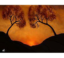 Sunset in the Jerusalem hills Photographic Print