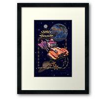 Future Travel by Space Car Framed Print