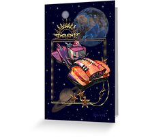 Future Travel by Space Car Greeting Card