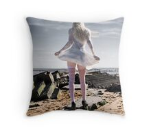Glamour in the Ruins Throw Pillow