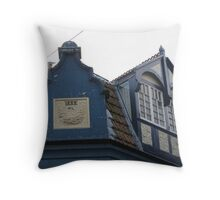 Rooftop Windows 1888 Throw Pillow