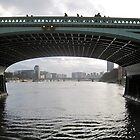 Under Westminster Bridge, London by RTurley