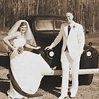 Bonnie & Clyde wedding shot ! by daniels
