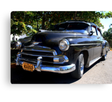 Black Cuban Cruiser Canvas Print