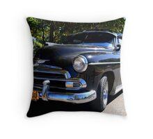 Black Cuban Cruiser Throw Pillow