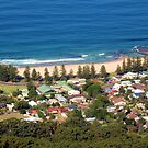 Austinmer Beach From Above by Michael John