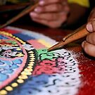 grain. sand mandala, india by tim buckley | bodhiimages