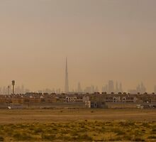 In a nutshell - Dubai skyline by MrWoof