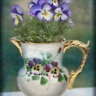Pitcher Full of Pansies by Sheri Nye