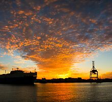 Port Ship Silhouette - Fremantle by Paul Fulwood
