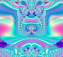 Pastel Satin Fractal by Julie Everhart